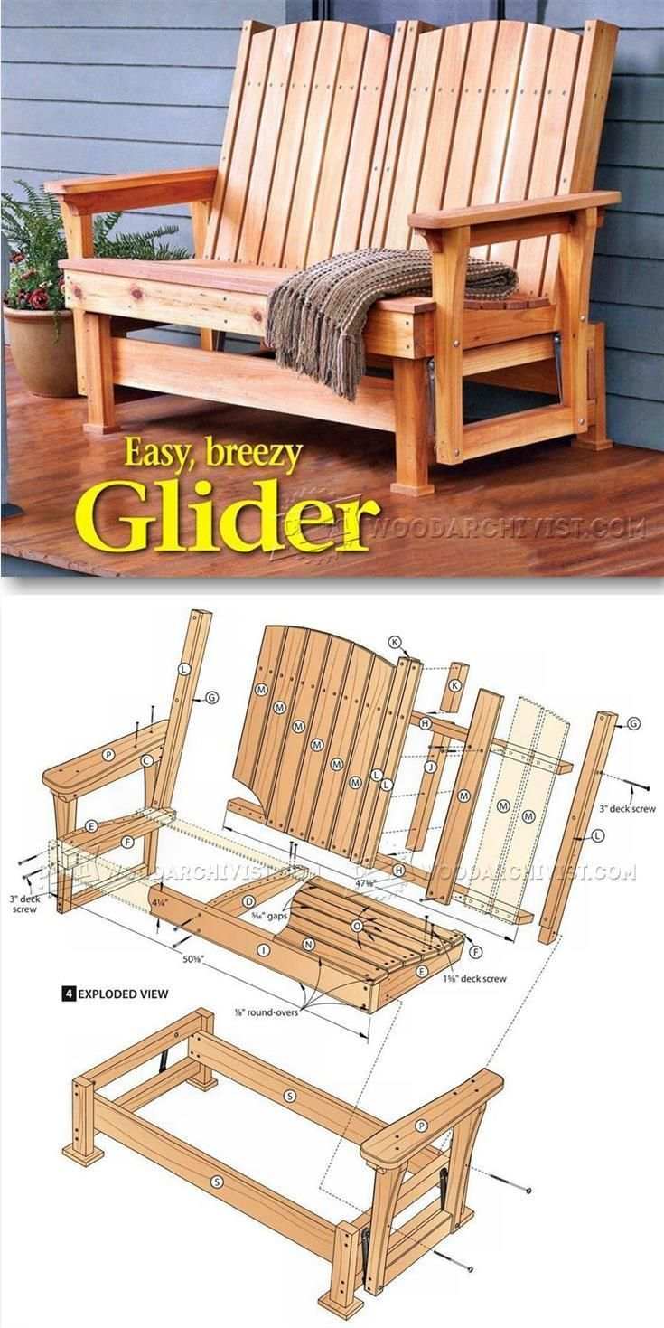 Outdoor furniture plans - Glider Bench Plans Outdoor Furniture Plans Projects Woodarchivist Com