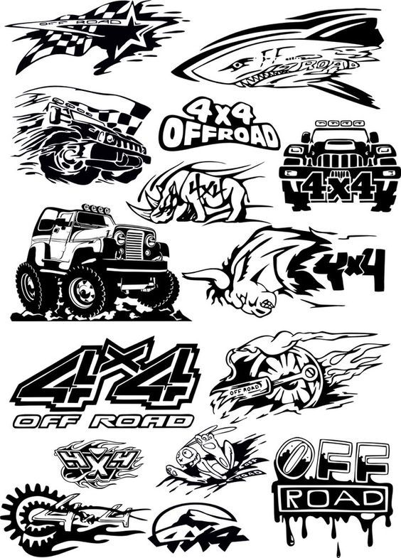 Offroad vehicle Vector Art Free Vector cdr Download (With