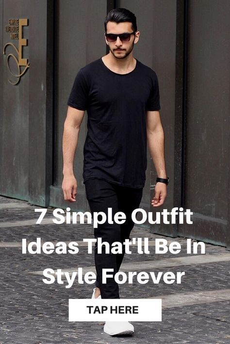 Simple outfit ideas for men.. #mens #fashion #style