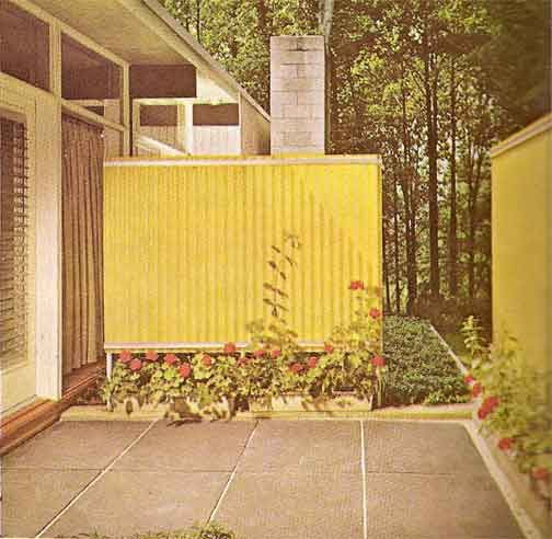 16 Fiberglass Siding Home Design Ideas: 17 Best Images About Mid-Century Modern Privacy Wall On