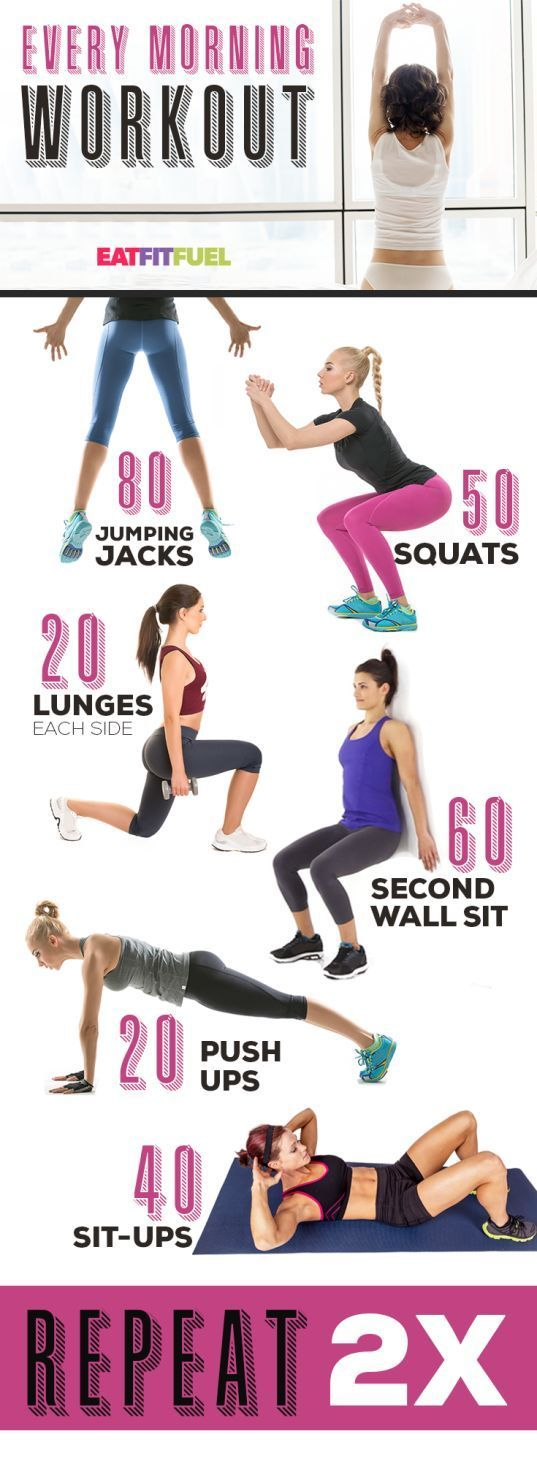 7 quick workouts at home for your morning routine. Lose weight fast with these b…