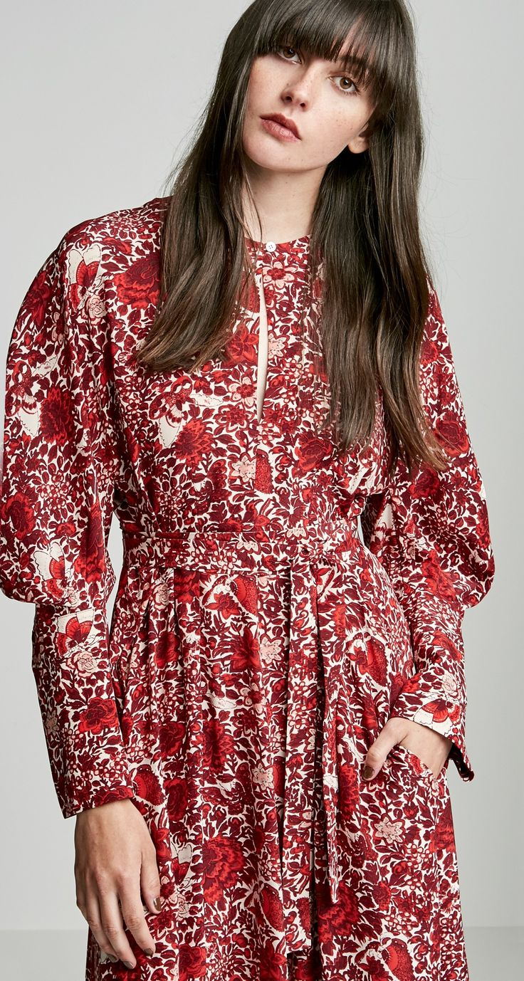 FLORAL COCOON SLEEVE DRESS - Dresses | SCANLAN THEODORE