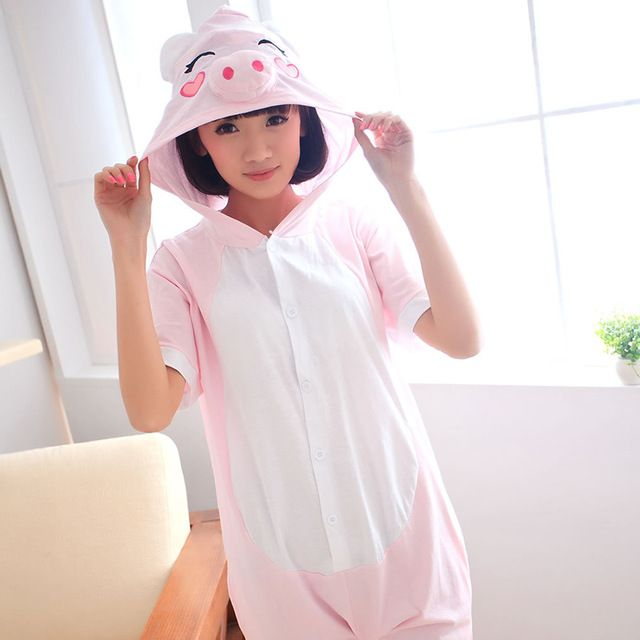 Dier Roze Gelukkig Pig Pyjama Sets Cartoon Korte Mouwen Katoenen Nachtkleding Mooie Dames Zomer Pyjama Siamese Onesie Volwassen in Unicorn Stitch Panda Dinosaur Unisex Flano Shoes Pajamas Costume Cosplay Animal Onesies Shoes For Women Men Adults Child van pyjama sets op AliExpress.com | Alibaba Groep