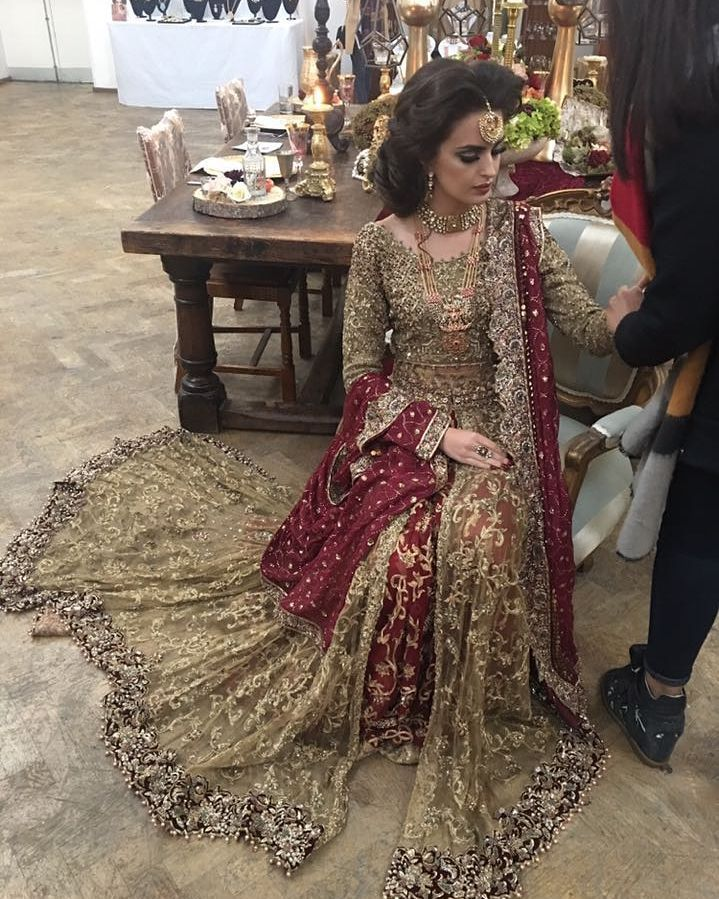 """35 Likes, 1 Comments - UMSHA by Uzma Babar (@umshabyuzmababar) on Instagram: """"Our hot seller, Shan-e-Mughlia, is inclusive of five pieces; a choli, a lehenga, a sarong, a…"""""""