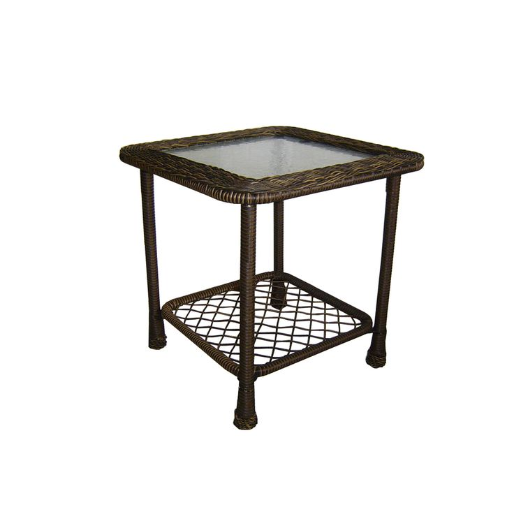 shop garden treasures severson square end table at outdoor wishes pinterest. Black Bedroom Furniture Sets. Home Design Ideas