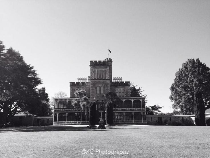 Larnach Castle in black and white  Photo by KC Photography