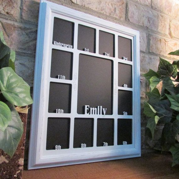 School Years Picture Frame with Name by StansGiftsHandmade on Etsy