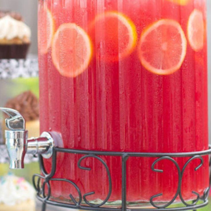 Pink Lemonade Sparkling Fruit Punch Recipe | Just A Pinch Recipes