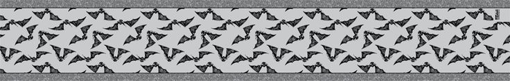 Gone Batty • Gray Table Runner This unique table runner is made of good quality thick woven burlap, 100% polyester. http://www.theartdeli.com