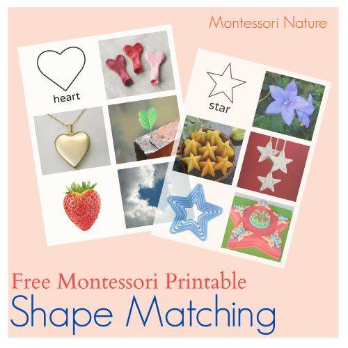 Shape matching Montessori printable