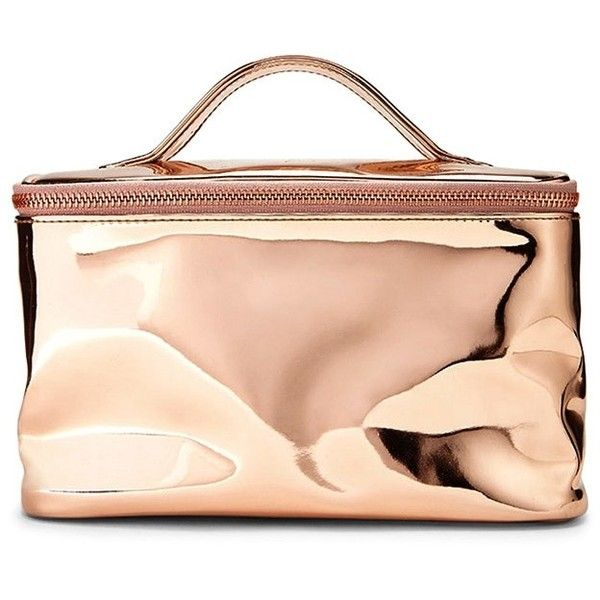 Forever 21 Faux Patent Leather Makeup Bag ($9.90) ❤ liked on Polyvore featuring beauty products, beauty accessories, bags & cases, cosmetic bags, make up bag, toiletry kits, makeup purse and forever 21