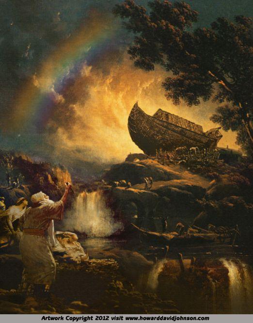 Noah's Ark by Howard David Johnson ~ Old Testament art