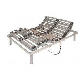 Cama Articulada Golf Aluminio. Bastidor de estructura de aluminio (no sólo como embellecedor). Articulaciones con función de anti-atrapamiento con terminación epoxi-poliéster color gris plata metalizado.