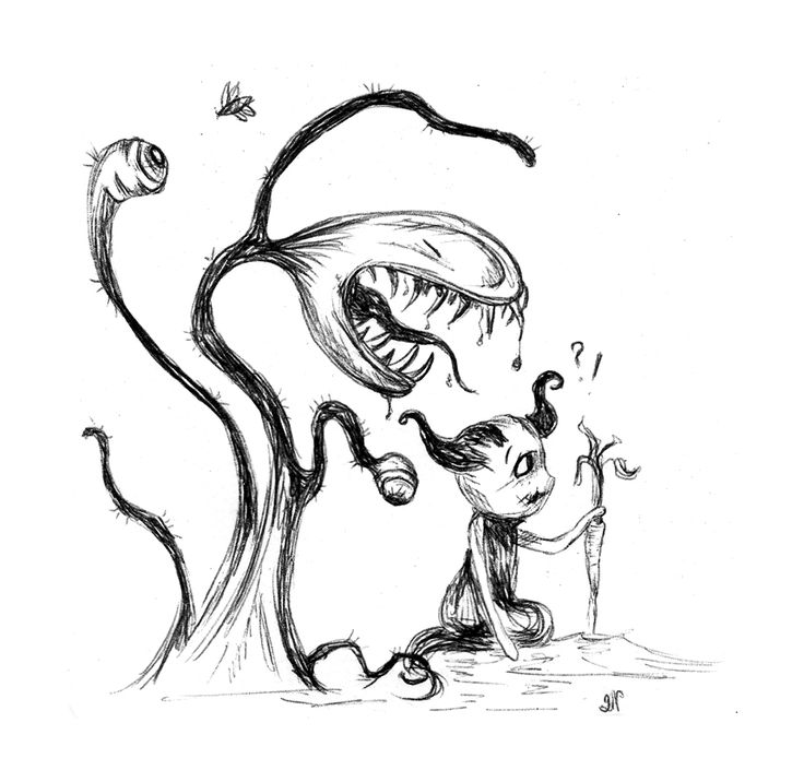 Inktober Day 29:  If you turn your back it might eat you. Enough is enough. #inktober #drawlloween