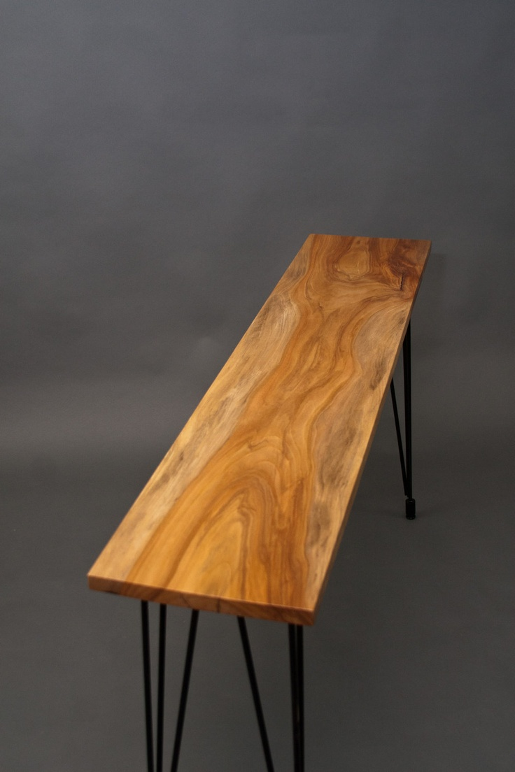 Bronze Sycamore Console Table - Reclaimed Wood - Mid Century Rustic. $495.00, via Etsy.