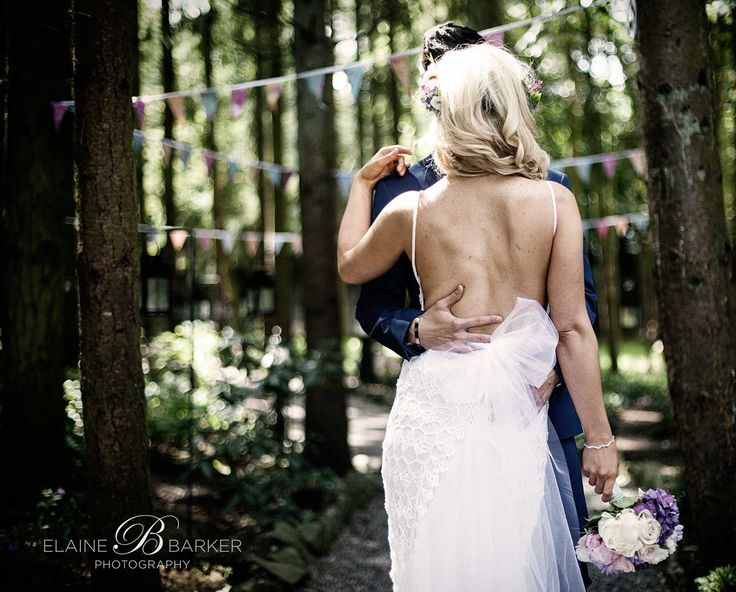 Styled photoshoot of bride and groom at The Station House Hotel, Co. Meath. Gorgeous forest portraits.