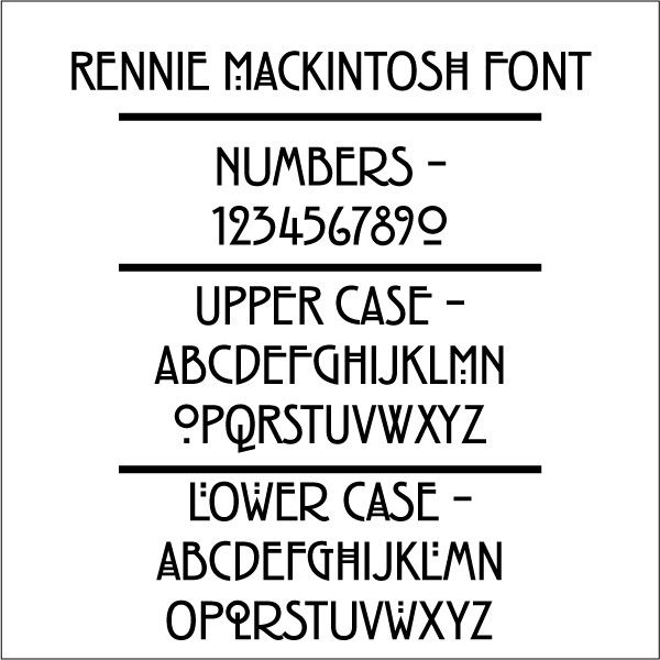 Rennie Mackintosh font {It looks like the American Horror Story font omg}