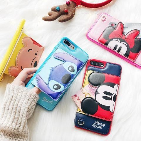 Stitch 3D Pocket Leather Phone Case