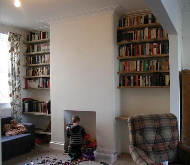 Here's my lovely alcove shelves