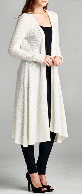 Sloane A-Line Cardi in Ivory