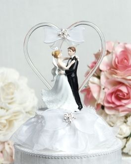 Glass Heart Dancing Couple Cake Topper   Wedding Cake Toppers   Wedding  Essentials   Wedding Favors U0026 Party Supplies   Favors And Flowers