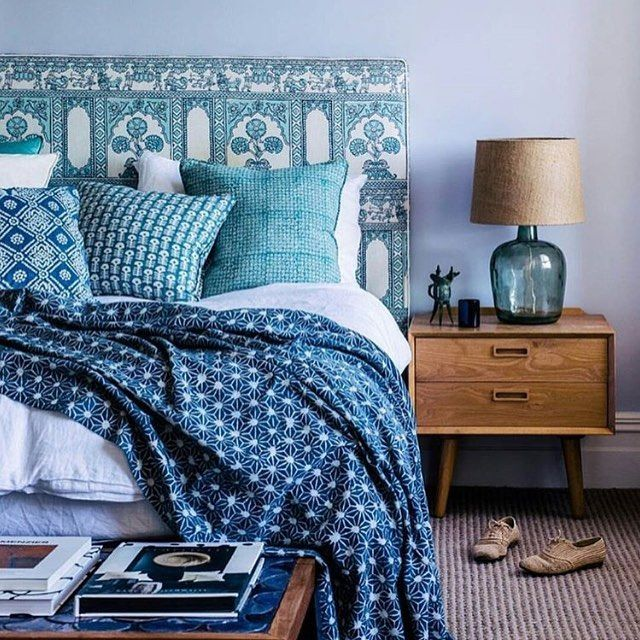 Nydelig bohemsk soverom 💙 Gorgeous bohemian bedroom 💙 Via: @interior4all…