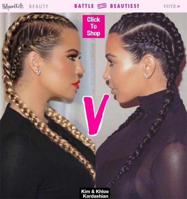 Khloe Kardashian's Boxer Braids — Better Than Kim Kardashian?