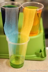 9. The Walking Water Experiment- A fun activity you can easily do with items from home.                                          http://royalbaloo.com/the-walking-water-experiment/