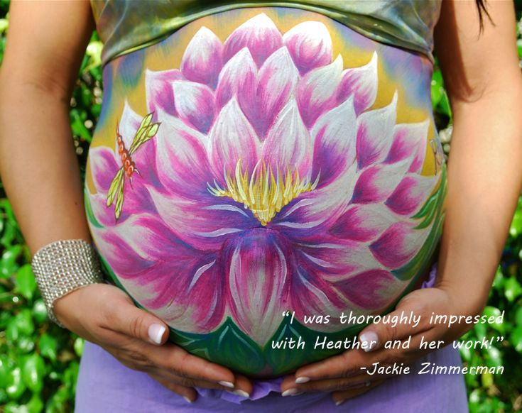 Heather's Living Art in St. Augustine, FL. Give a gift card for a free belly painting session at a baby shower!