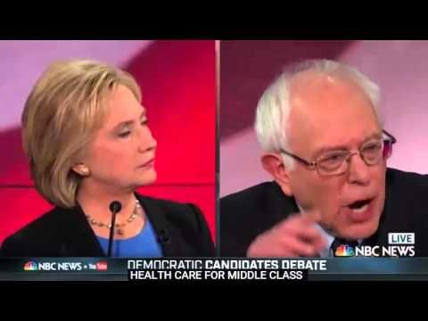 """Democratic Debate Hillary Clinton Bernie Sanders Martin O'Malley :25 Hillary Clinton says '""""I'm the one they don't want to be up against!""""..."""