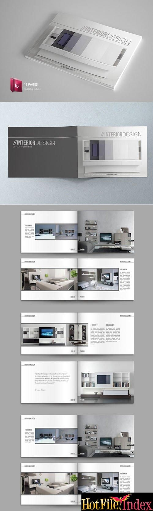 Indesign Catalogue Template From HotFileIndex