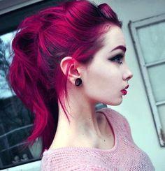 Un color atrevido para muchos (cabello pink fuxia)