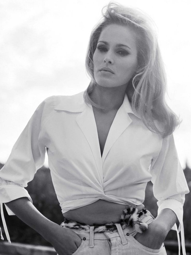 Ursula Andress on the set of She, London, 1966