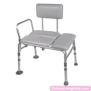 Drive Medical - 12005KD-2 - K.d. Padded Transfer Bench, 400 Lb Weight Capacity