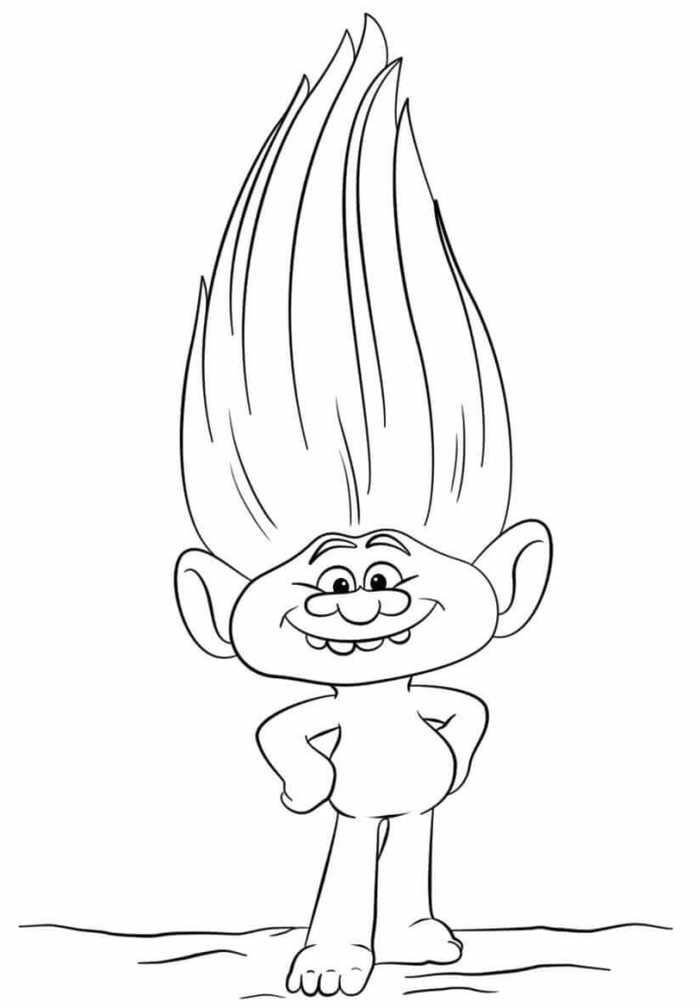 Trolls - Guy Diamond Coloring Page | Coloring Page Central | 1008x700