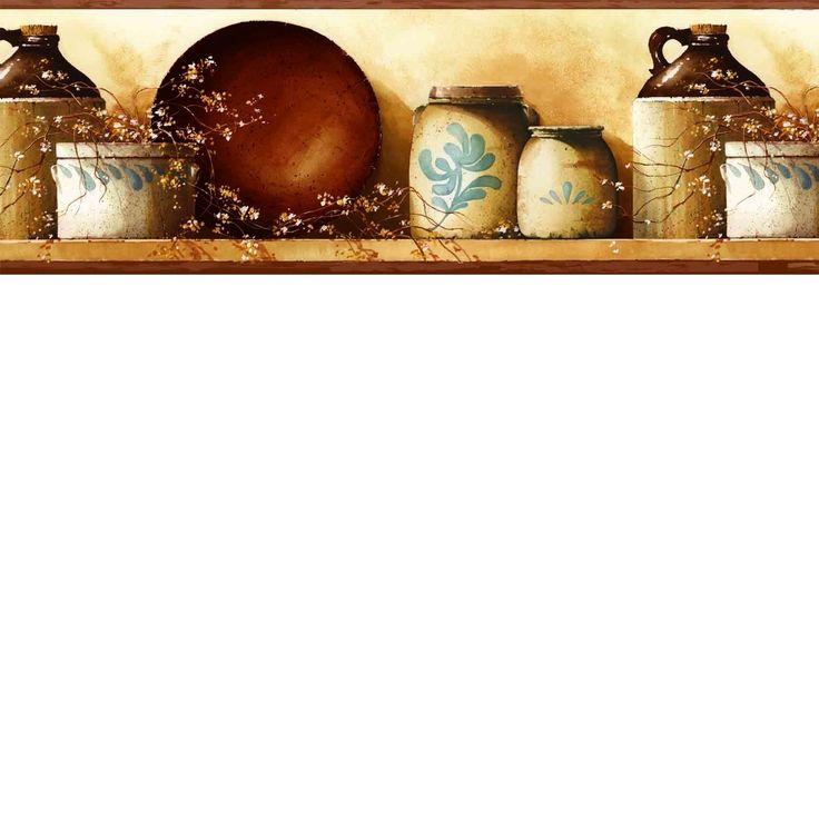 25+ best Kitchen Wallpaper Borders images on Pinterest ...