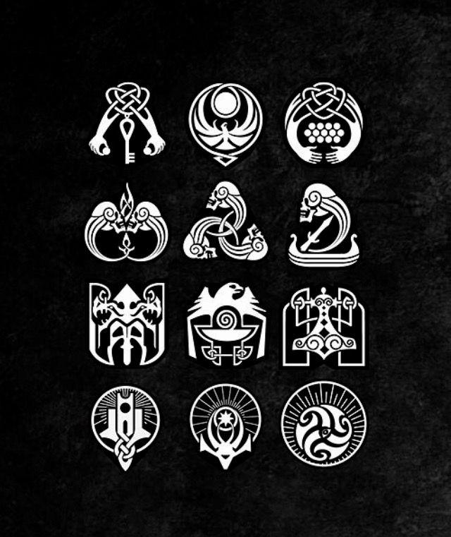 Skyrim Symbols Of Factions And Guilds Design Art Elder Scrolls
