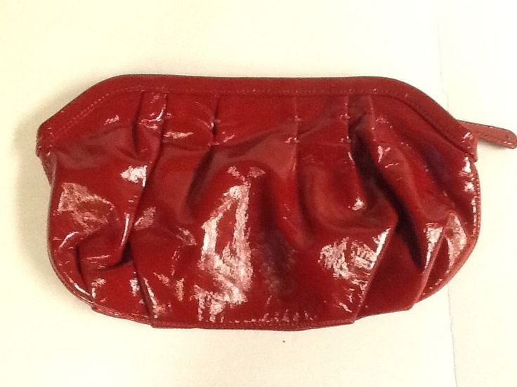 GAP Faux Leather Red Clutch Glossy Evening Bag Valentines Day Purse Handbag #GAP #Handbag #ValentinesDay