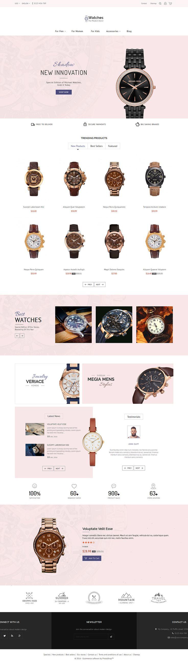 #Watch #Jewelry#Modern - #eCommerce Web Design - #TemplateTrip