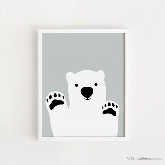 Bear Printable art Poster bebe Instant by PrintableSopoomc on Etsy