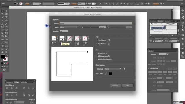 how to make a pattern inside a shape illustrator