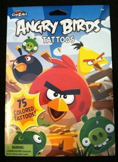 ... Angry Bird theme party off with our Angry Bird Temporary Tattoos