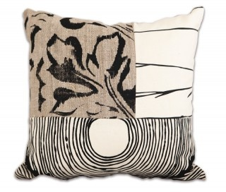 Black/Grey Threefold Cushion by The Eco Collective