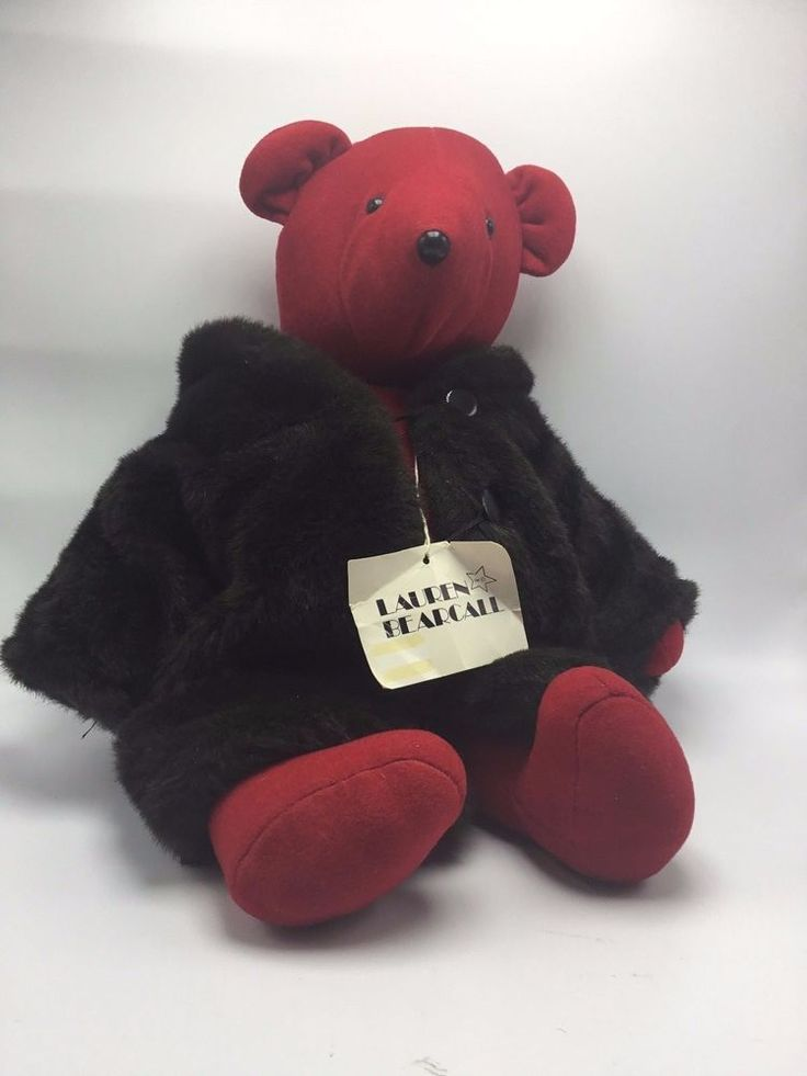 Lauren Bearcall - Red Plush in Brown Faux Fur Coat -  North American Bear -V.I.B #NorthAmericanBearCo