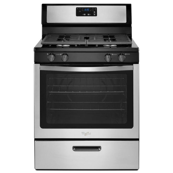 Shop Whirlpool Freestanding 5.1-cu ft Gas Range (Stainless Steel) (Common: 30-in; Actual: 29.88-in) at Lowes.com