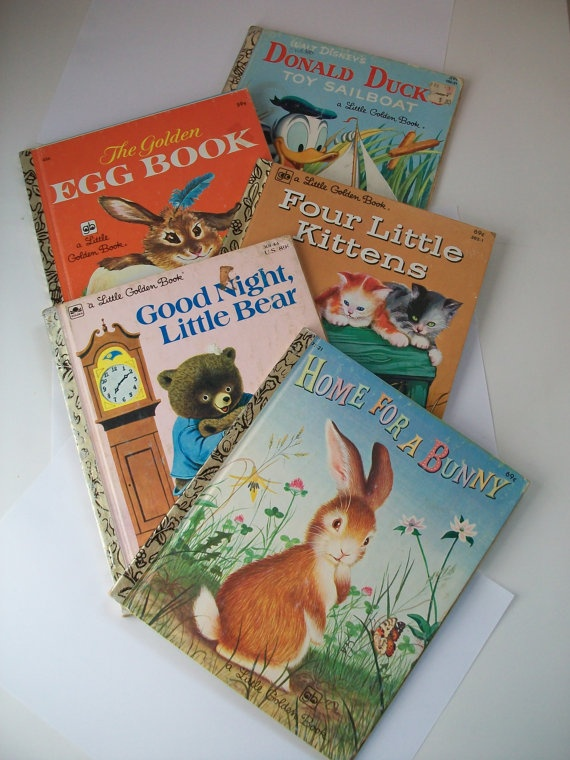 Little Golden Books  instant collection  set of 5 by GTDesigns, $14.00