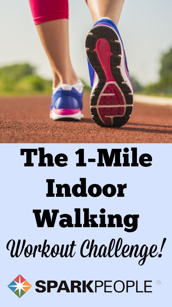 Walk a mile indoors--are you up for this fitness challenge? We show you how to exercise indoors--no cold-weather excuses!