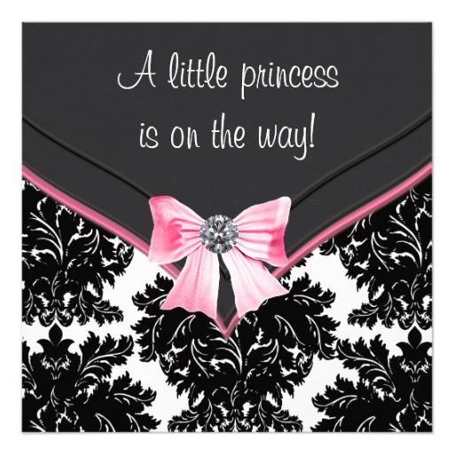 262 best images about princess baby shower invitations on pinterest, Baby shower invitations
