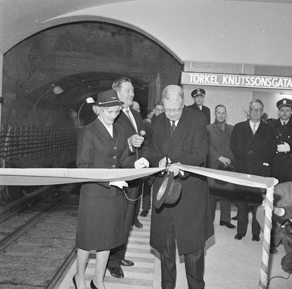 Invigning av tunnelbanan 1964. | Spårvägsmuseet