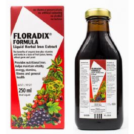 Floradix Liquid Herbal Iron Extract provides organic iron plus vitamins and herbs. Floradix Liquid Herbal Iron Extract helps vitality, energy, stamina, fitness & general health.